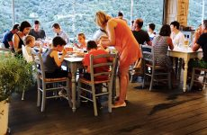 Lefkada Camping Poros Beach Restaurant Menta